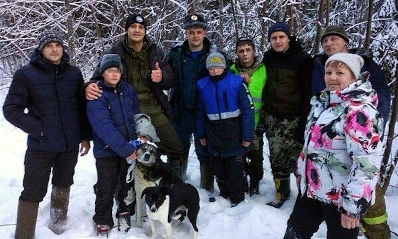 Замерзающие в лесу дети выжили и спаслись благодаря собакам