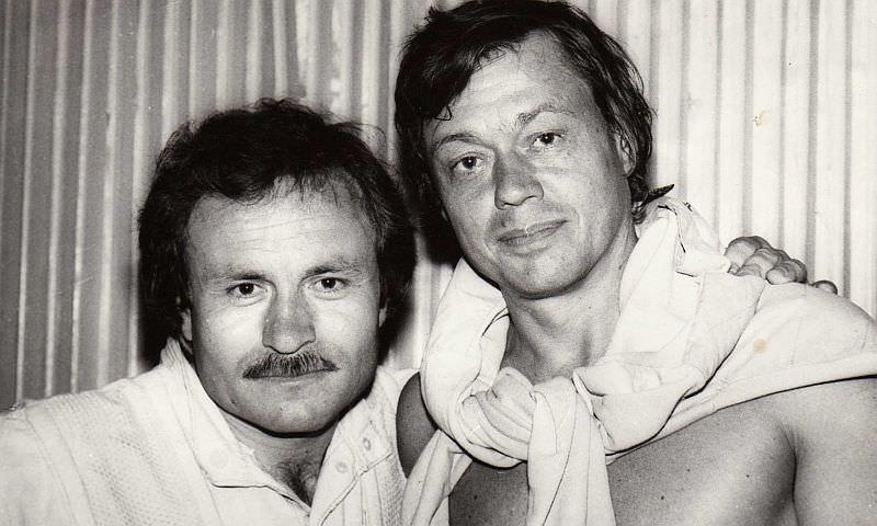 Владимир Быстряков с Николаем Караченцовым.