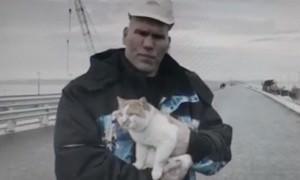 Валуев с котом проинспектировали Крымский мост