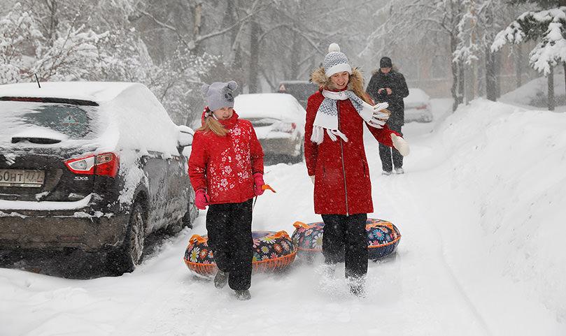Высота сугробов в Москве достигла 55 сантиметров