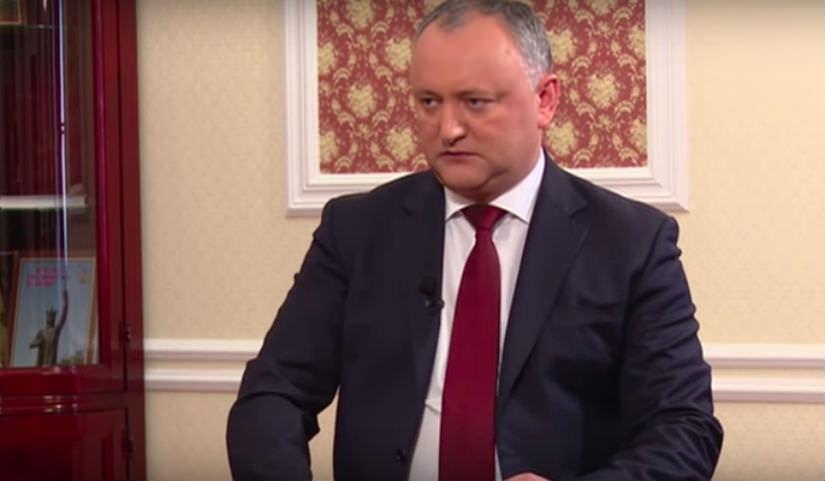 Президент Молдовы Игорь Додон: «Нам не хватает такого, как Путин - патриота во главе страны»