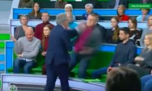 Ведущий НТВ подрался с украинским экспертом во время эфира