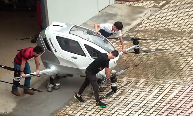 Китайцы первые в мире успешно испытали пассажирский беспилотник