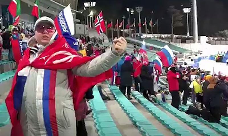 У вице-чемпионки Олимпиады попытались отобрать  Знамя Победы в Пхёнчхане