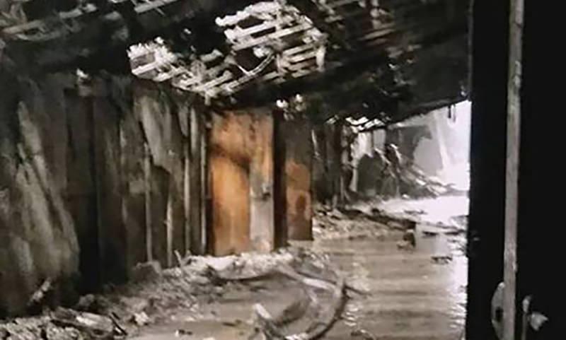 «Сгорел как спичечный  коробок» - первые кадры  изнутри сгоревшего ТЦ в Кемерово