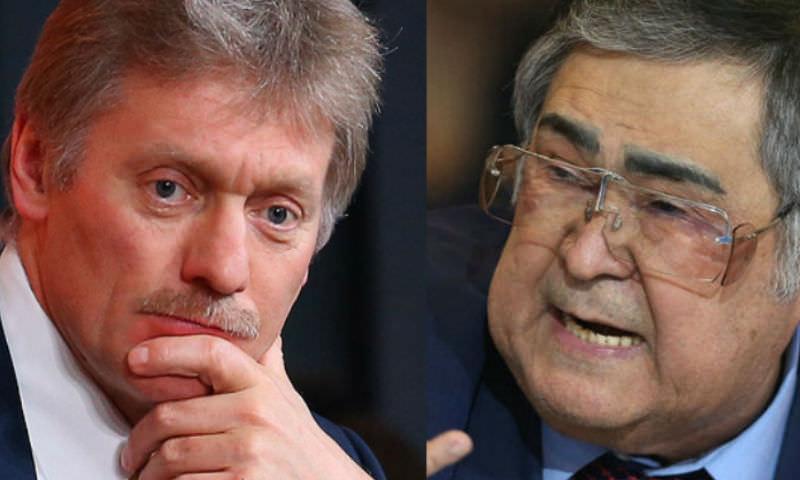 Песков не стал отрицать возможности отставки Тулеева
