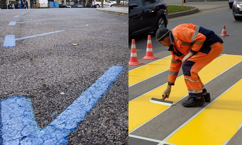 На дорогах России появится желтая и синяя разметки