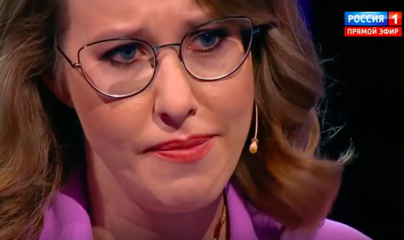 Ксения Собчак расплакалась на дебатах