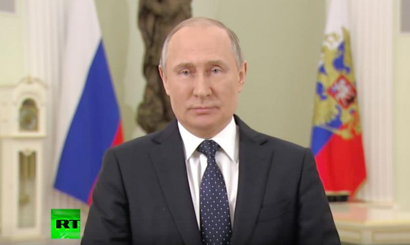 Путин записал видеообращение к россиянам