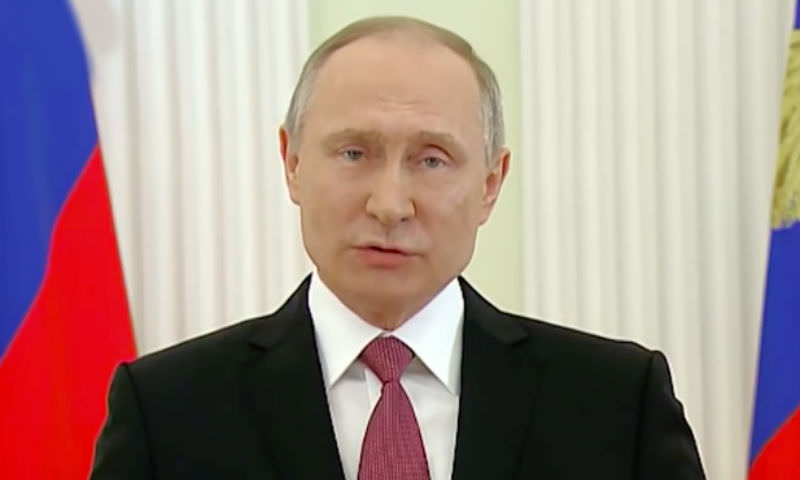 Владимир Путин обратился с речью к нации