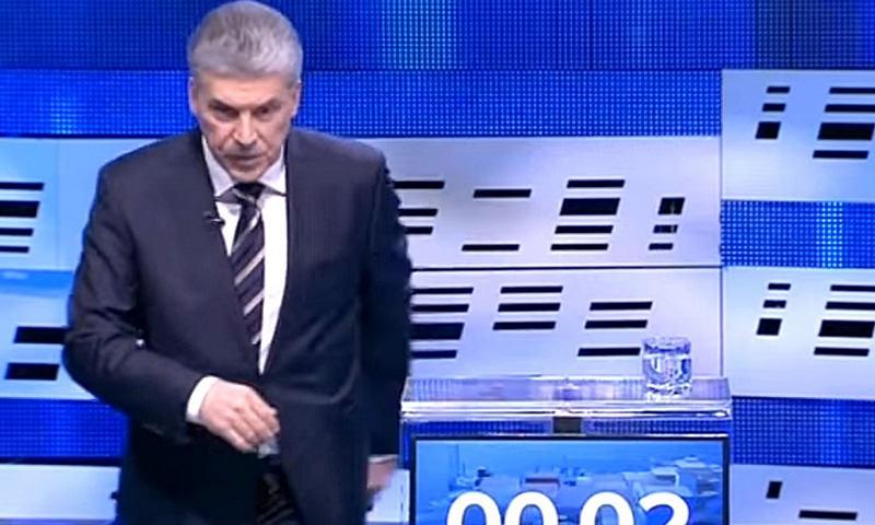 Грудинин ушел с прямого эфира дебатов