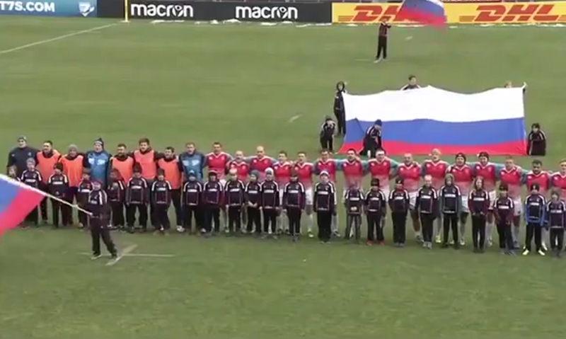Российские регбисты спели гимн СССР и разгромили Германию