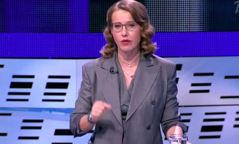 Собчак снова сорвалась на Жириновском и обозвала