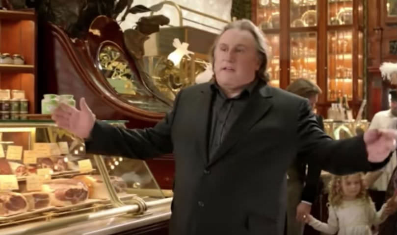 Жерар Депардье продает продукты в России
