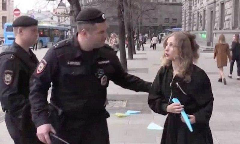 Алехину из Pussy Riot задержали за поддержку Telegram