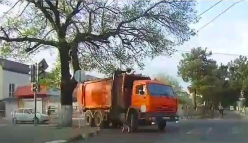 Девочка чудом осталась жива, попав под колеса мусоровоза