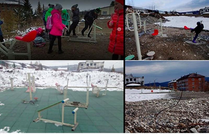 Наглость чиновников: детскую площадку благоустроили фотошопом