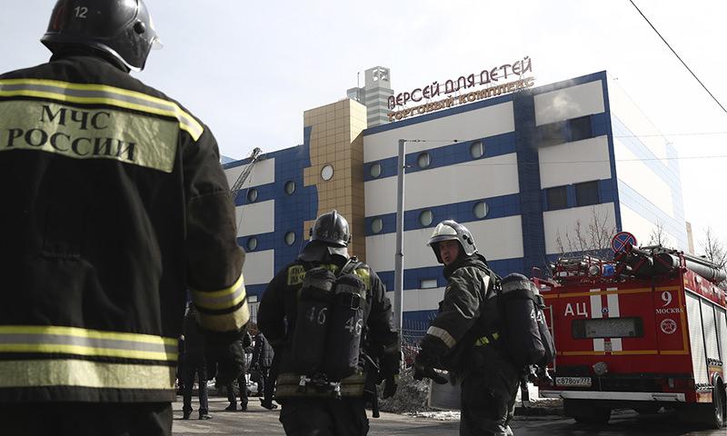 При пожаре в московском  торговом центре погиб  один человек