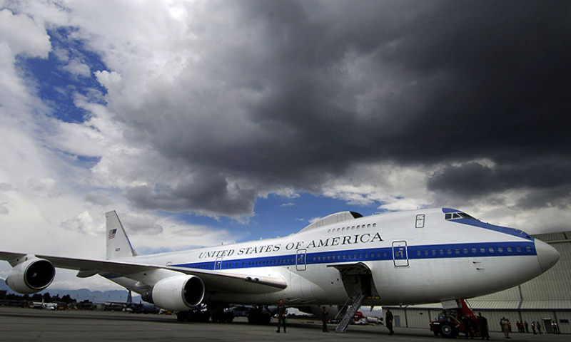 В США подняли в воздух самолет «судного дня»
