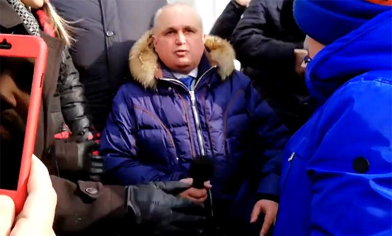 И.о. губернатора Кузбасса стал Сергей Цивилев, ставший на колени