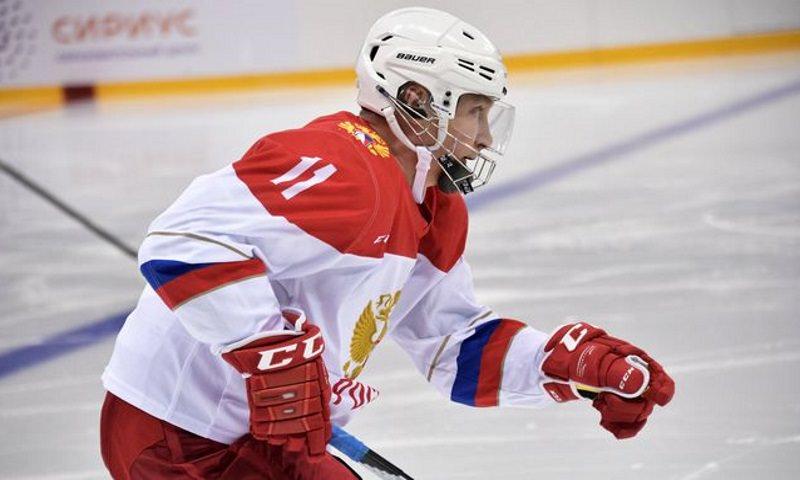Путин забил треть всех шайб в матче Ночной хоккейной лиги