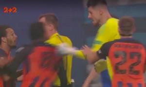 Футболисты Киева и Донецка подрались во время матча