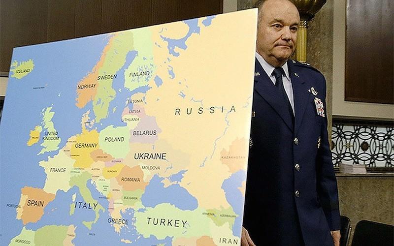 США нашли на карте России