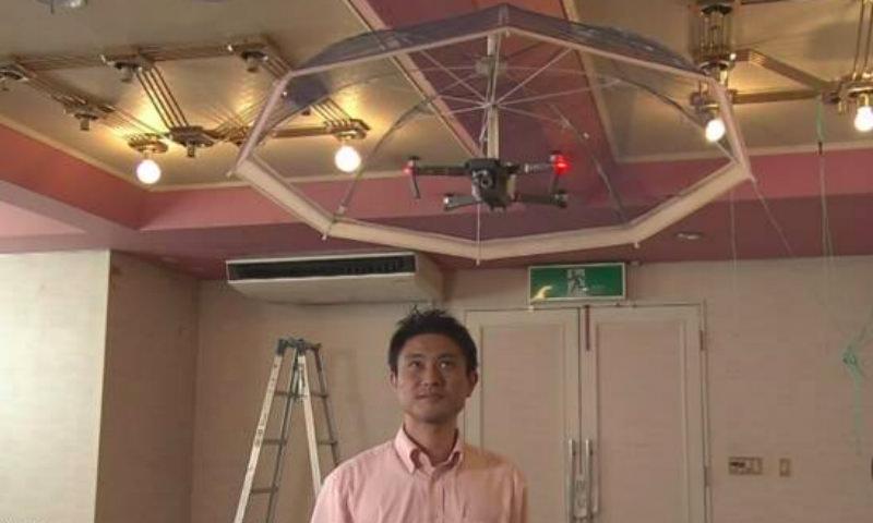 Летающий зонт-беспилотник создали в Японии