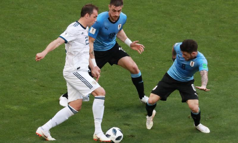 Россия уступила Уругваю в последнем матче группового этапа ЧМ-2018