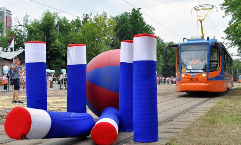 К борьбе за кубок ЧМ-2018 подключились трамваи