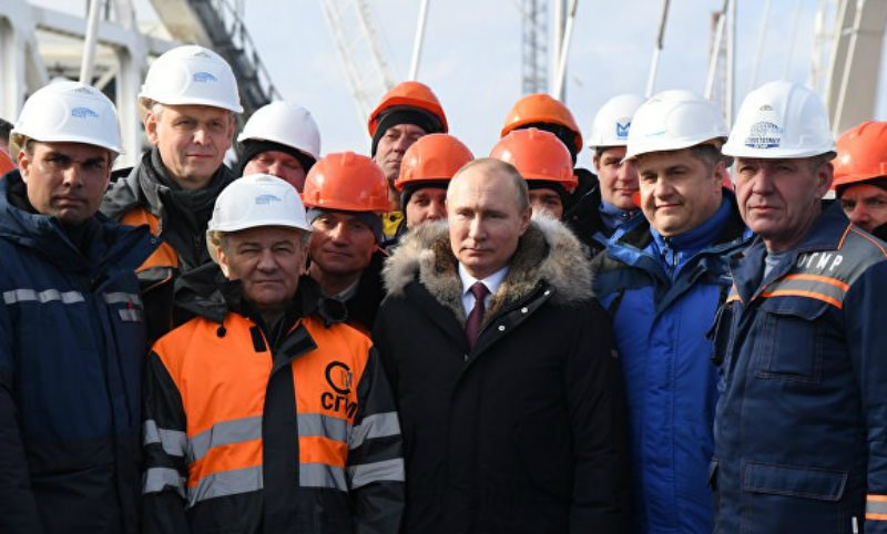 Россию наказали санкциями за Крымский мост