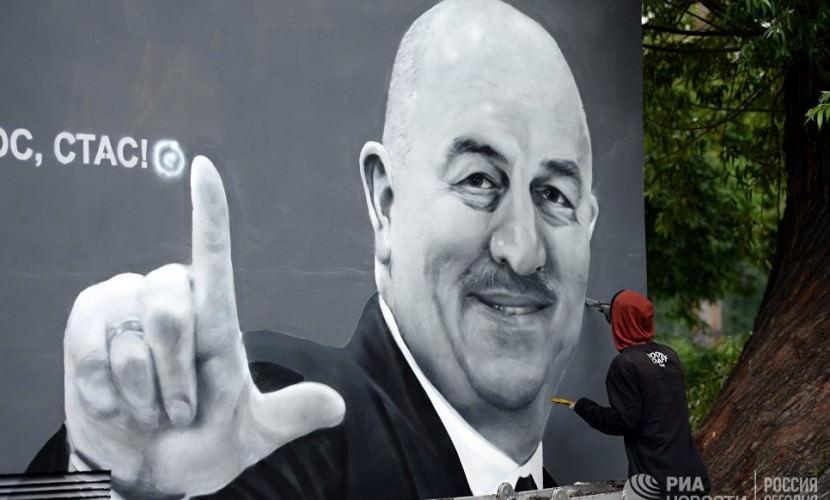 В Петербурге исправят граффити с Черчесовым, которому