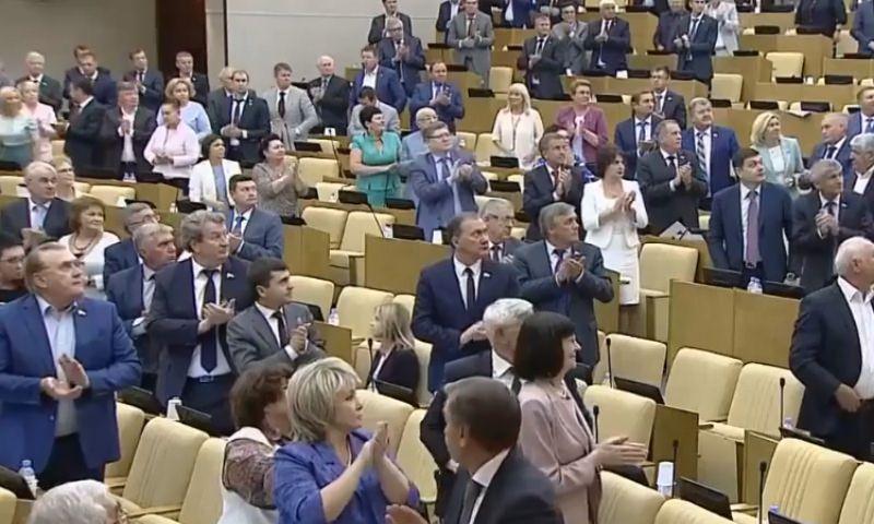 Депутаты Госдумы стоя рукоплескали конгрессменам США. Кроме Поклонской