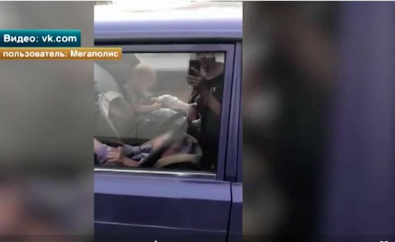 Прохожие спасли двух малышей из раскаленной машины