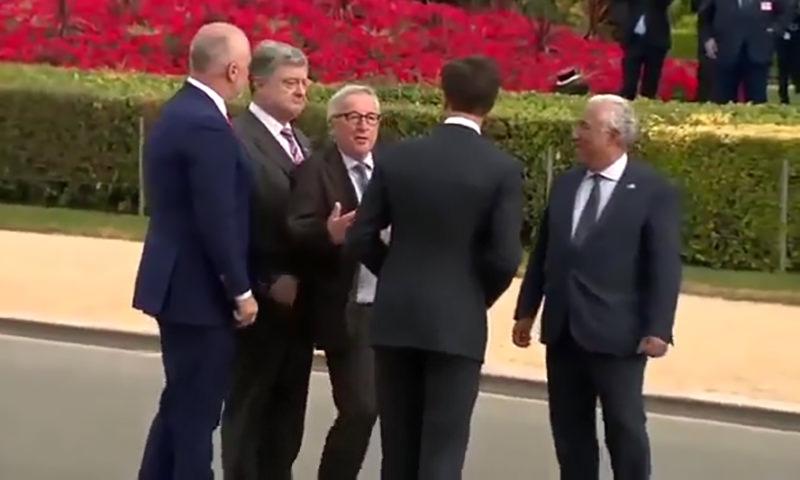 Юнкер напился больше Порошенко на саммите НАТО