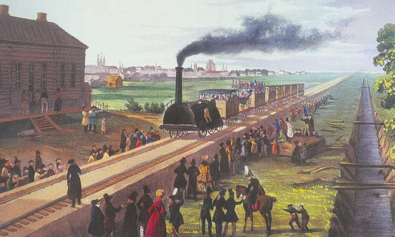 Календарь: 28 августа - Железная дорога соединила Москву и Санкт-Петербург