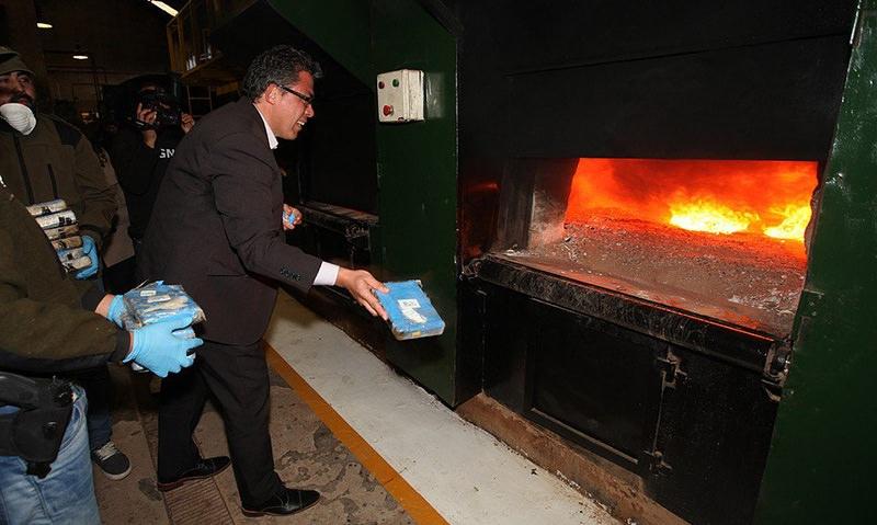 В Аргентине сожгли 389 кг кокаина из российского посольства