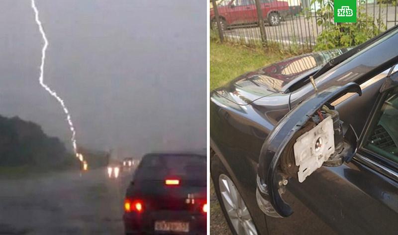 В машину мэра города Рубцовска ударила молния