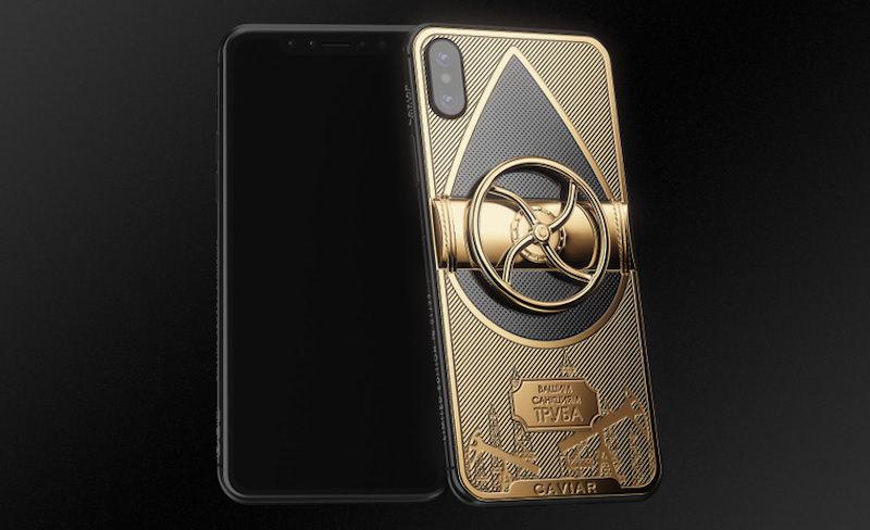 В России появился iPhone X с угрожающей надписью