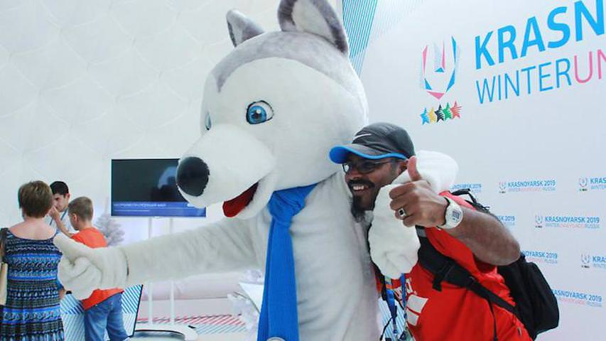 Красноярские рабочие устроили Олимпийские игры на стройке