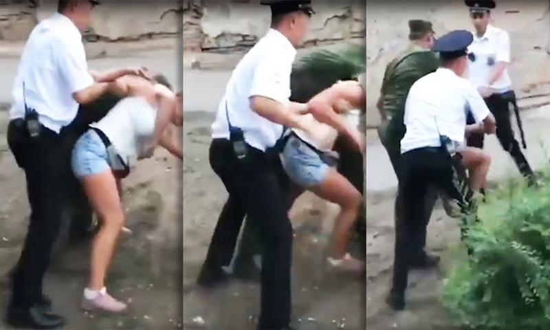 Полицейские Астрахани жестоко скрутили 16-летнюю наездницу за навоз