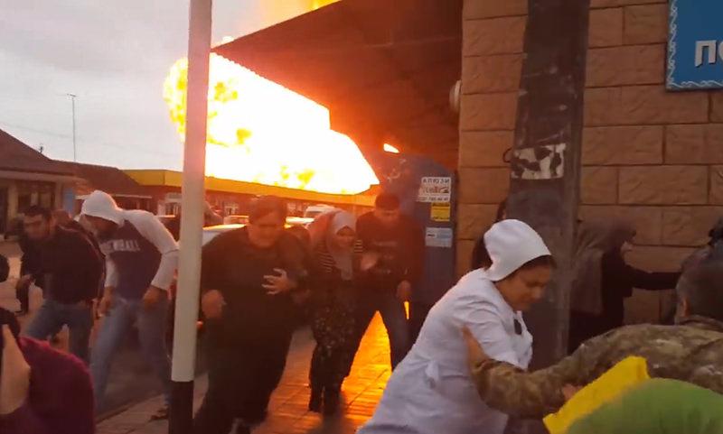 В Чечне взорвалась АЗС