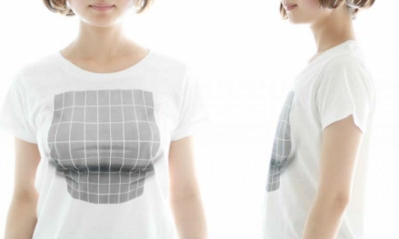 Грудь из ничего: придумали футболку с оптической иллюзией
