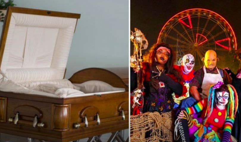 Парк развлечений предложил 300 долларов тому, кто полежит в гробу