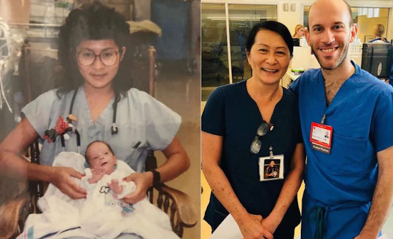 Медсестра узнала в коллеге малыша, которого выходила 28 лет назад