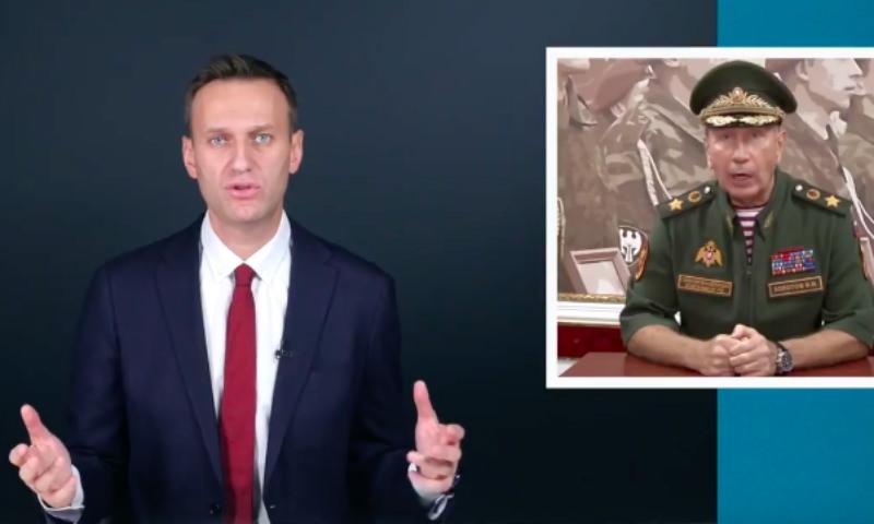 Навальный выбрал оружие для дуэли с Золотовым
