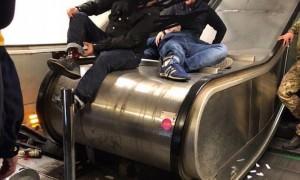 Болельщики ЦСКА разбились на эскалаторе в метро Рима