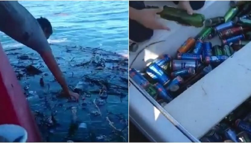Халява из Сочи: смытые потопом бутылки с пивом и колой приплыли в Геленджик