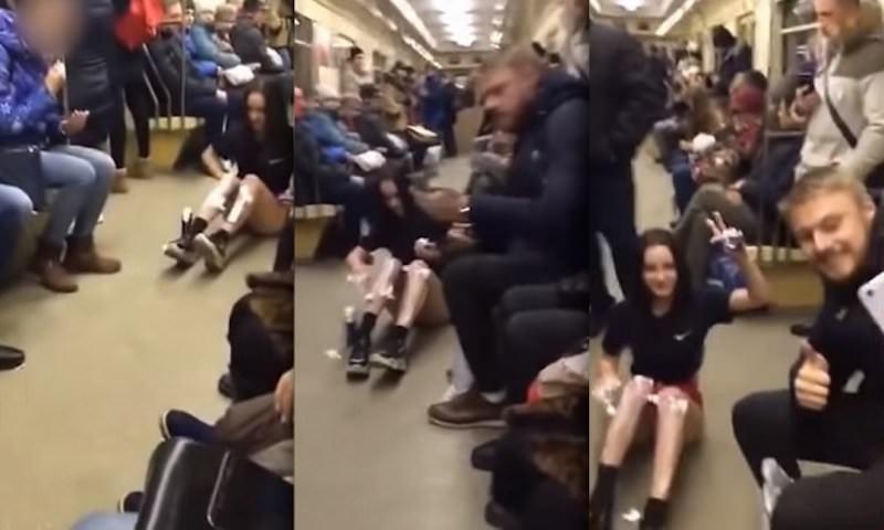 Студентки брили ноги в метро и поплатились за это