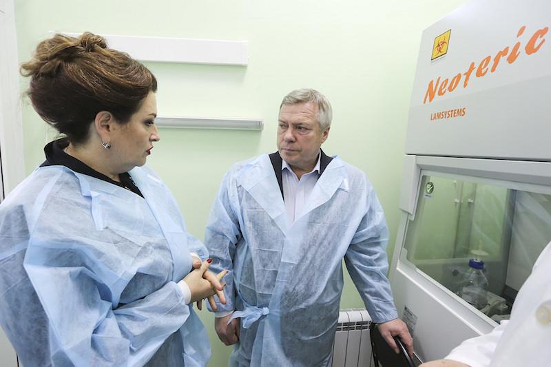 Министр здравоохранения Татьяна Быковская и губернатор Ростовской области Василий Голубев